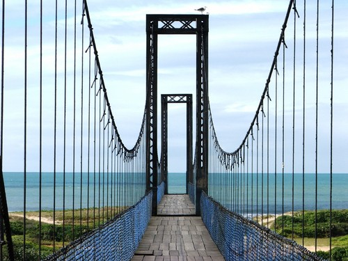 Ciclista que caiu de ponte pênsil será indenizado por má conservação da travessia